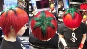 Peinados con forma de frutas, vegetales o comestibles