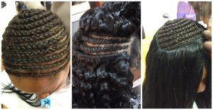 Peinados con las extensiones cosidas