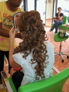 Peinados con tirabuzones