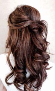 Peinados de fiesta semi-recogidos con ondas