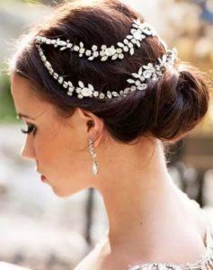 Peinados de novia recogidos bajos