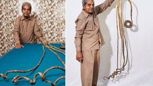 Shridhar Chillal las uñas mas largas del mundo