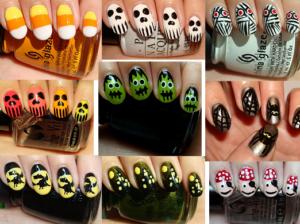 diseños de uñas halloween