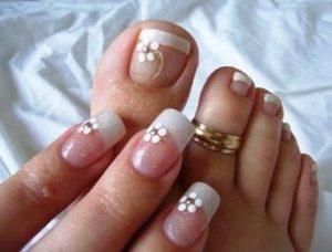 uñas francesas pies